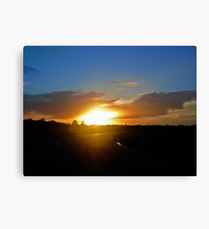 Floridian Sunset Road Canvas Print