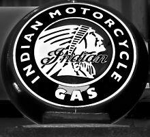 Indian Motorcycle Sign by Katrina Condliffe