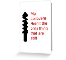 Stiff Coilovers COLORS Greeting Card