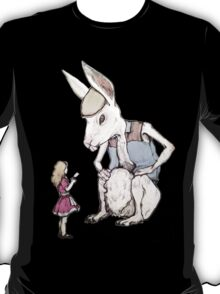 Jefferson Hare and the Child in Pink T-Shirt