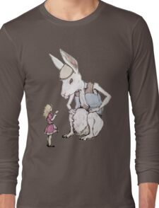 Jefferson Hare and the Child in Pink Long Sleeve T-Shirt