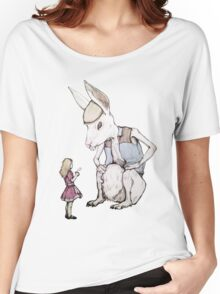 Jefferson Hare and the Child in Pink Women's Relaxed Fit T-Shirt