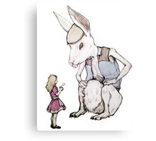 Jefferson Hare and the Child in Pink Canvas Print