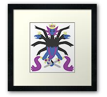Hydreigon and Doublade Framed Print