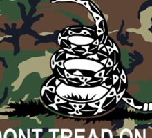 Camo Dont Tread On Me Gadsden Flag Camouflage Sticker