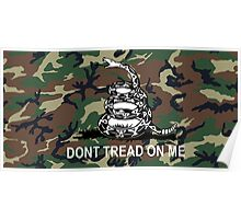 Camo Dont Tread On Me Gadsden Flag Camouflage Poster