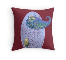 Alice and the Cheshire Paisley Throw Pillow