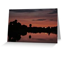 Nocturnal Reflections Greeting Card