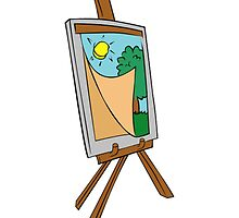 Cartoon Painting Easel by NetoboDesigns