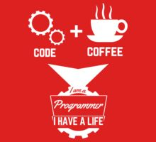 programmer t-shirt: code,coffee. by dmcloth