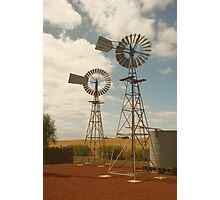 Twin windmills Photographic Print