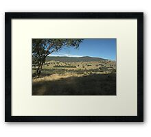 View over the hills Framed Print