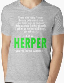 I Am A Herper Mens V-Neck T-Shirt