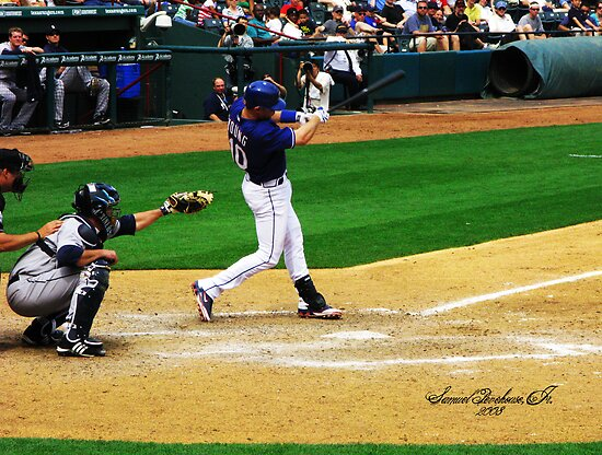 Michael Young, Texas Rangers by Samuel Pevehouse