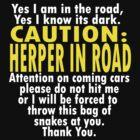 CAUTION: Herper by Myke Clarkson