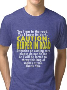 CAUTION: Herper Tri-blend T-Shirt