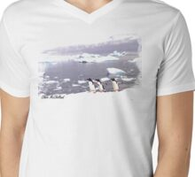 Three Amigos penguin  TSHIRT Mens V-Neck T-Shirt