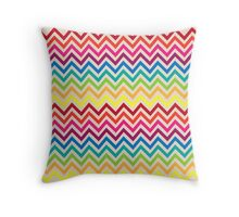 Multi-Colored Rainbow Candy Chevron pattern Throw Pillow