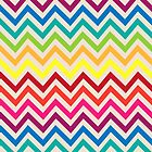 Multi-Colored Rainbow Candy Chevron pattern by Tee Brain Creative