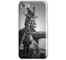 """Really?"", Giraffe in BW iPhone Case/Skin"
