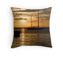 La Paz Sunset Foreboding Clouds Throw Pillow