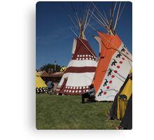 Native North American Man in front of Tipi Canvas Print