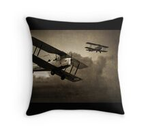 Mission Successful - Sepia Throw Pillow