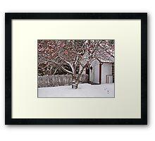 Rustic Church at Christmas Framed Print
