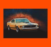 Orange 1970 Boss 302 Mustang Kids Tee