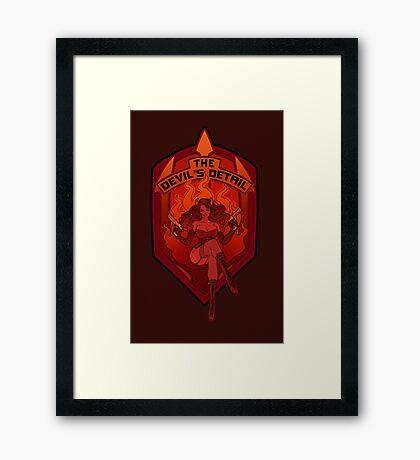 The Devil's Detail Framed Print