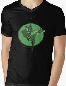 Night Vision Pin Up Mens V-Neck T-Shirt