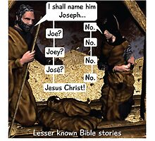 Lesser known Bible Stories - Naming Jesus by cartoon