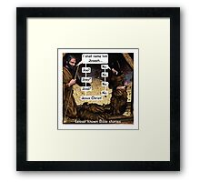 Lesser known Bible Stories - Naming Jesus Framed Print