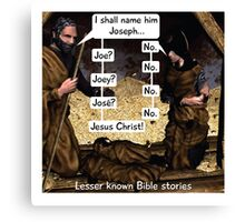 Lesser known Bible Stories - Naming Jesus Canvas Print