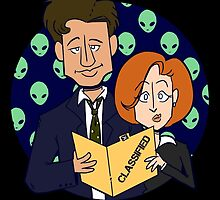 Mulder and Scully by rubynrags