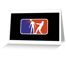 Major League Zombie  Greeting Card