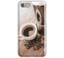 Coffee and coffee pot iPhone Case/Skin