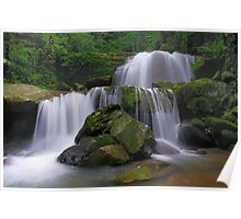 Double Waterfalls Poster