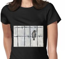 Bird (On A Barbed) Wire Womens Fitted T-Shirt