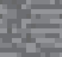 Pixel Stone Block for Gamers by Tee Brain Creative
