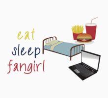 Eat, sleep, fangirl Kids Clothes
