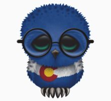 Nerdy Colorado Baby Owl on a Branch Kids Clothes