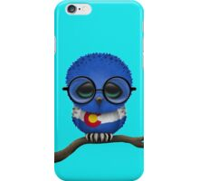 Nerdy Colorado Baby Owl on a Branch iPhone Case/Skin