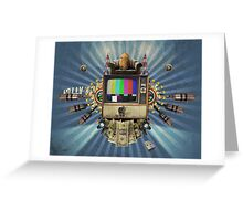 The Television Will Not Be Revolutionised! Greeting Card