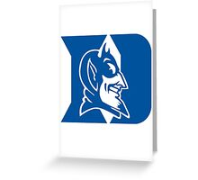 duke blue devils Greeting Card