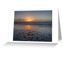 Sunset - Ocean Beach, Tasmania Greeting Card