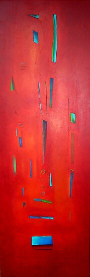 Red Totem by Carmen  Cilliers