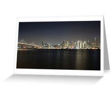 San Francisco Holiday Skyline Greeting Card