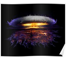 surreal atomic bomb explosion Poster