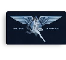 Blue Angel Pinup Canvas Print
